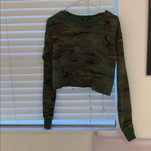 sweatshirt crop top